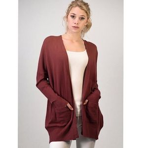 Sweaters - Soft Knit Long Cardigan with Pockets